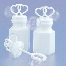 2 White Wedding Heart Party Reception Bubble Bottle Table bomboniere favour kids