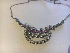 Rhinestone Necklace Vintage Diamante Cocktail Wedding Jewellery d