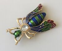 Vintage Style large  Bee  Brooch pin