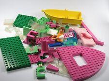 Lego Postes Fille Lego,Tranches,Panneaux de construction,Bateau,Vert,Rose,