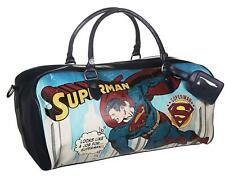 OFFICIAL DC COMICS SUPERMAN VINTAGE SHOULDER TRAVEL WEEKEND SPORT GYM SCHOOL BAG