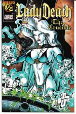 Lady Death IV The Crucible #1/2 Signed by Brian Pulido Autographed Chaos! Wizard