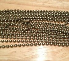 "10PCS Antique Bronze Ball Chain Necklaces 24"" for pendants, dog tags *US SELLER*"