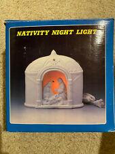 Vintage Nativity Night Light