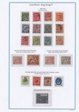 Lot  1617 Grande bretagne feuille et timbre