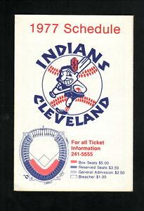 Cleveland Indians--1977 Pocket  Schedule--Forest City