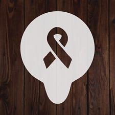 Awareness Ribbon mylar stencil cancer painting crafting art decorating flexible