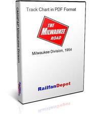 Milwaukee Road Milwaukee Division Track Chart 1954 - PDF on CD - RailfanDepot