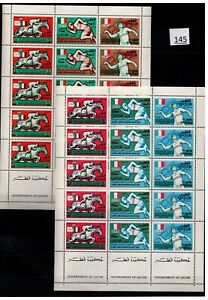 /// QATAR - MNH - SPORTS - OLYMPICS - NEW CURRENCY - MEXICO 1968