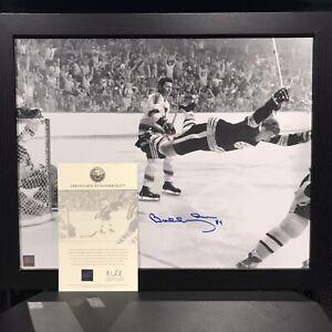 Bobby Orr Boston Bruins Signed Auto Framed 16x20 Flying Goal Photo - GNR COA