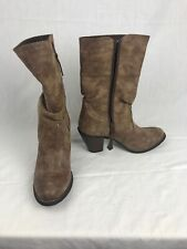 "Durango Women's DRD0165 Brown Side Zip 10"" Slouch 2.75"" Heel Fashion Boots 8M"