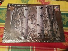 Sealed New Masterpieces David Wenzel Fleeting Glimpse Wolves Woods 550 Pc Puzzle