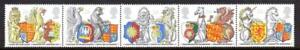1998 650th ANNIV ORDER OF THE GARTER Queens Beasts Stamp Set MNH SG2026-2030