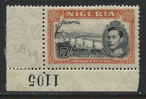 Nigeria KGVI 1942 5/ perf 13 by 11 1/2 mint o.g.