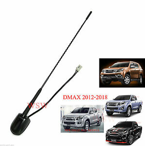 Black Tail Antenna Replacement For Isuzu Holden D-Max V-Cross 4x4 UTE 2012-2016