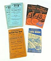 Railway Employee's Used Annual Time Books, Lot of 6 1951, 53(2), 55, 62(2)