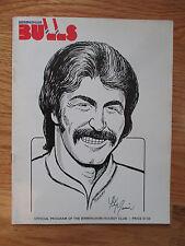 BIRMINGHAM BULLS vs EDMONTON OILERS 1977-78 WHA Program WAYNE GRETZKY