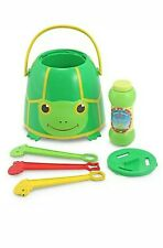 Melissa & Doug Tootle Turtle Bubble Bucket Green Medium