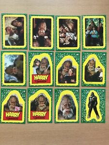 12 Harry & the Hendersons trading card stickers