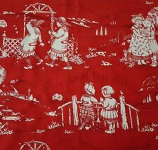 Just Between Friends BTY Mary Engelbreit Quilting Treasure Girls Red White Toile