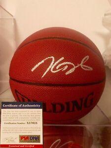 KEVIN DURANT HAND SIGNED NBA BASKETBALL GOLDEN STATE WARRIORS PSA DNA CERT