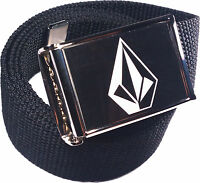 Volcom Stone Belt Buckle Bottle Opener Adjustable Web Belt