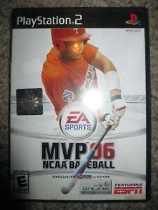 MVP 06 NCAA Baseball  (Sony PlayStation 2, 2006) PS2 Complete