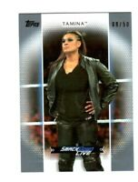 WWE Tamina R-36 2017 Topps Women's Division Silver Parallel Card SN 8 of 50