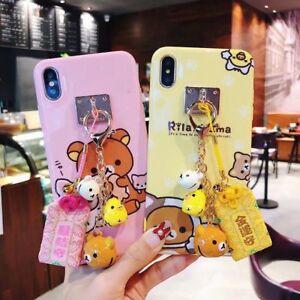 For iPhone 11 Pro XS MAX XR 7 8+ Japan Rilakkuma Bell Fukubukuro Cute case cover