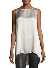 NEW Eileen Fisher Hammered Silk Tank Silver- size PL