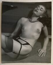 photo superbe tirage 30x24cm - Transgenre sexy 1950 - travesti - Serge de Sazo