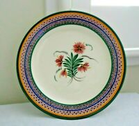 Henriot Quimper Vintage French Plate Dish with flowers 9.75 inches EUC