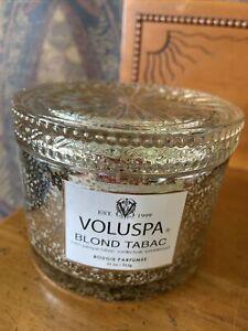 VOLUSPA BLOND TABAC 2 WICK JAR CORTA MAISON CANDLE 6819