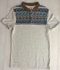 Mens New River Island Collared, Short Sleeved Grey Top Size S