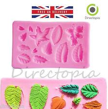 SILICONE FOGLIE DESIGN FONDANT PASTA di Zucchero Torta decorazione MUFFA REGALO stampo
