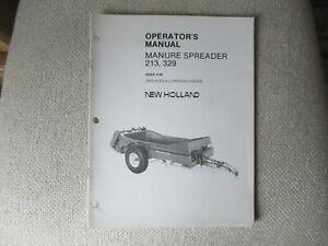 1986 New Holland 213 329 manure spreader operator's manual