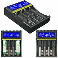 Rechargeable Lithium Battery Charger for Li-ion LiFePO4 Ni-MH Ni-CD 9V (6F22)