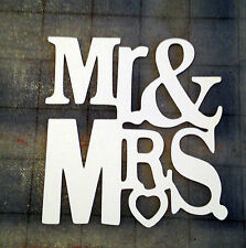 Scrapbooking - card - craft - embellishment - MR. & MRS. with heart