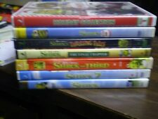 (7) Dreamworks Shrek Children's DVD Lot: Shrek 1-4 Halloween Christmas & 3-D