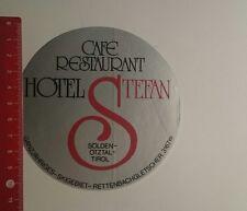 Aufkleber/Sticker: Café Restaurant Hotel Stefan Sölden (131216160)