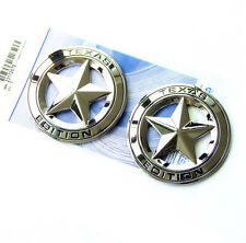 2x OEM Chrome Texas Edition Emblem Badge Tacoma Tundra Ford Chevy Dodge TRD w