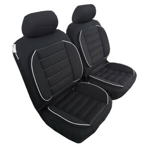 Pair New Comfort Plus Lumbar Support 3D Airbag Seat Cushion Cover For Isuzu DMAX