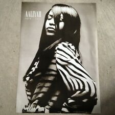 "Aaliyah 24"" x 34"" poster print - black and white R&B 1979-2001"