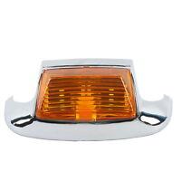 Chrome Orange Front Fender Tip Light Fit For Harley 80-13 FLHT FLT FLHS FLHR