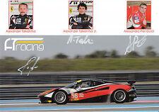 Talkanitsa, Pier Guidi, talkanitsa JR mano firmato PROMO CARD LE MANS 2015.