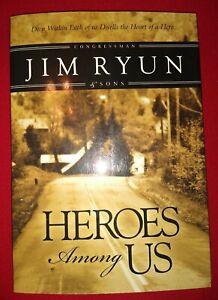 **SIGNED** Heroes Among Us, Jim Ryun and sons 2nd printing 2002