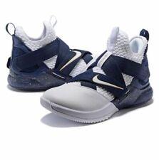 Nike Men's Lebron Soldier 12 White/Navy UK Size 9.5