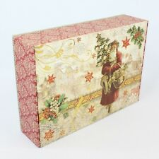 Punch Studio Rectangle Decorative Storage Gift Box Father Christmas Santa Noel