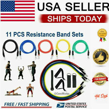 Hot one Set Yoga Pilates Resistance Bands Abs Exercise Fitness Tube Workout Band