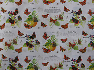 BUTTERFLY INSECT RED ADMIRAL ETC GIFT WRAP  WRAPPING PAPER